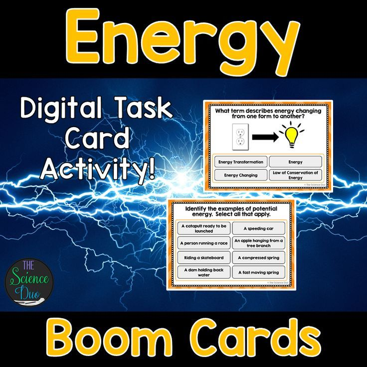 This interactive deck will challenge your students to learn the basics of energy including energy transformations and forms of energy. This digital resource is hosted on Boom Learning™️. Boom Cards™️ require absolutely no printing, laminating, cutting, or grading. It's all done for you!