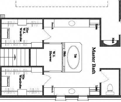 master bedroom floor plan with ideas for a small 6x8 bath