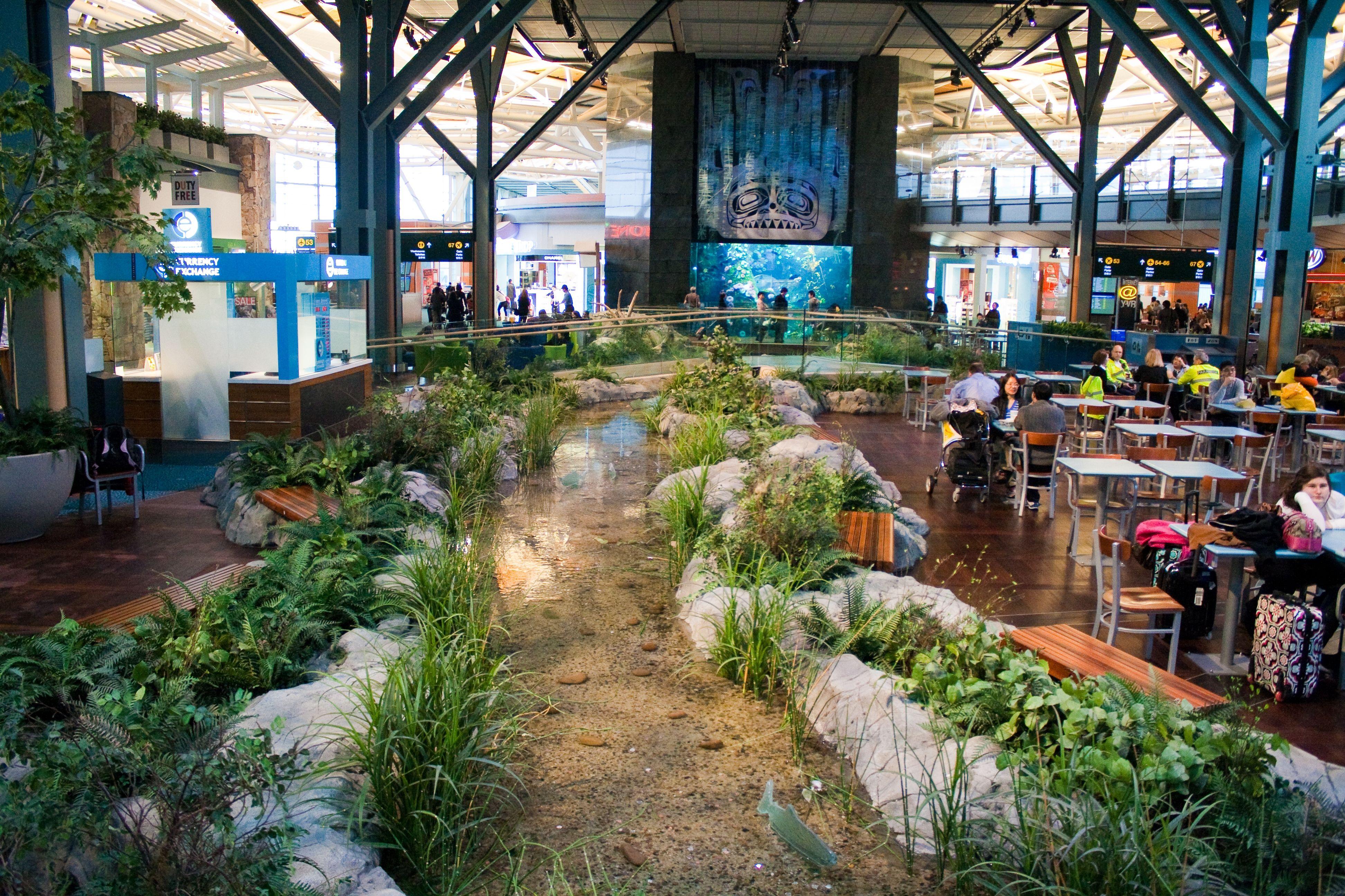 Airport Attractions: Vancouver International Airport's Aquarium Exhibit