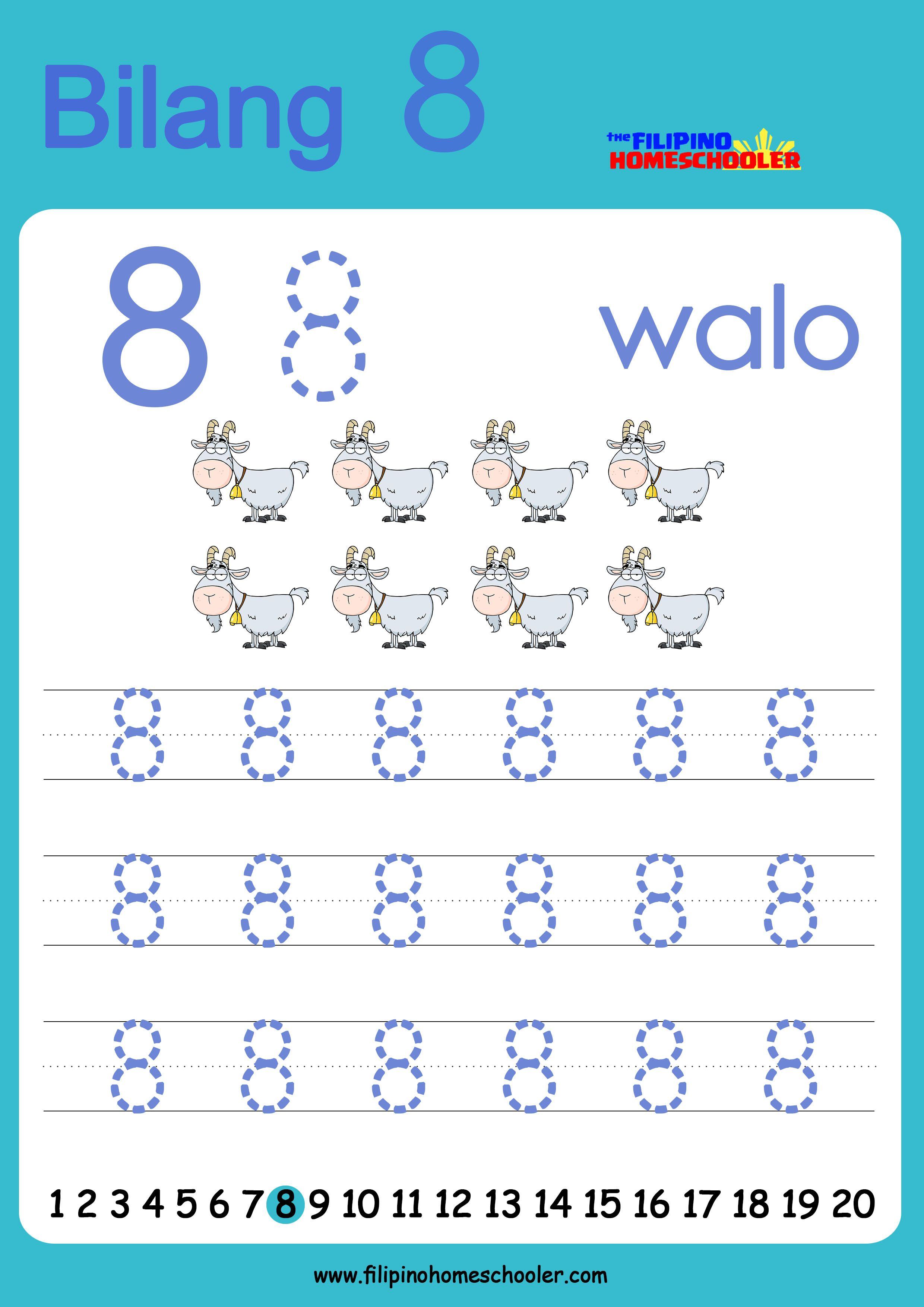 Free Filipino Numbers Worksheets From 1 10 In