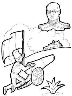 5 de mayo. Batalla de Puebla para colorear | 5 de mayo ...