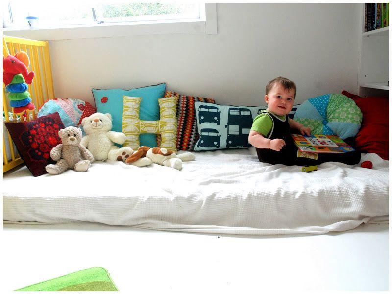 Futon Bambini ~ Lettino basso per bambini in legno naturale montessori bed