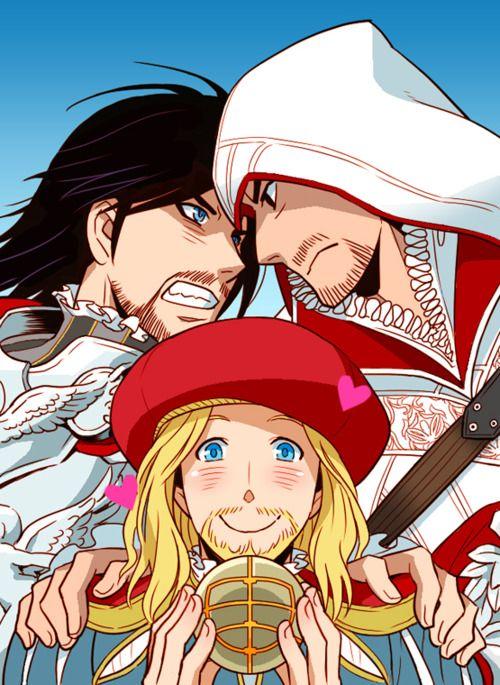 Cesare Ezio And Leonardo I Love The Color In This Picture