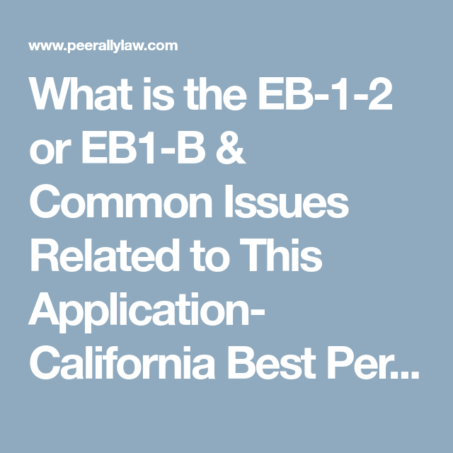 What Is The Eb 1 2 Or Eb1 B Common Issues Related To This