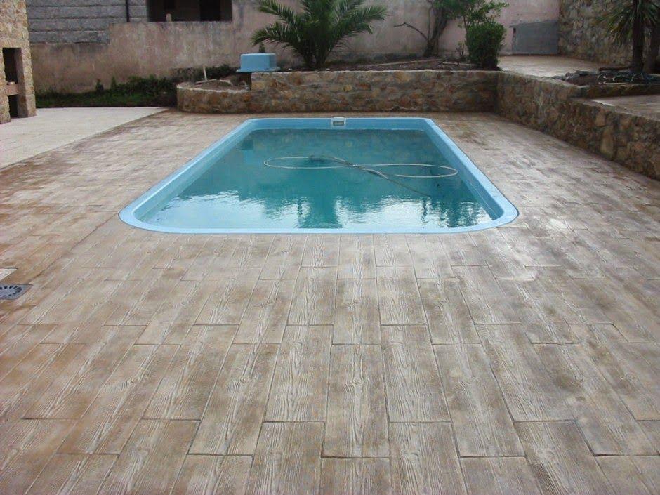 Hormigon impreso elda autonomos profesionales hormigon - Suelos piscinas exteriores ...