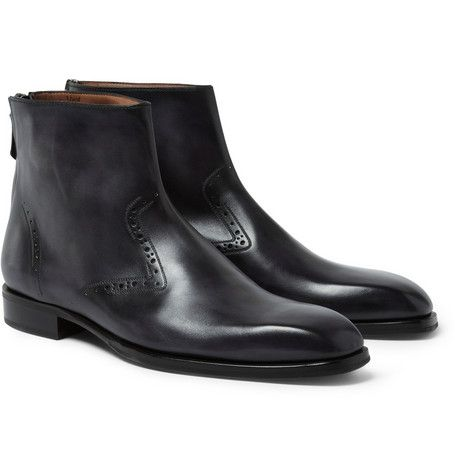 16d7c997c5ee Berluti Venezia Leather Chelsea Boots