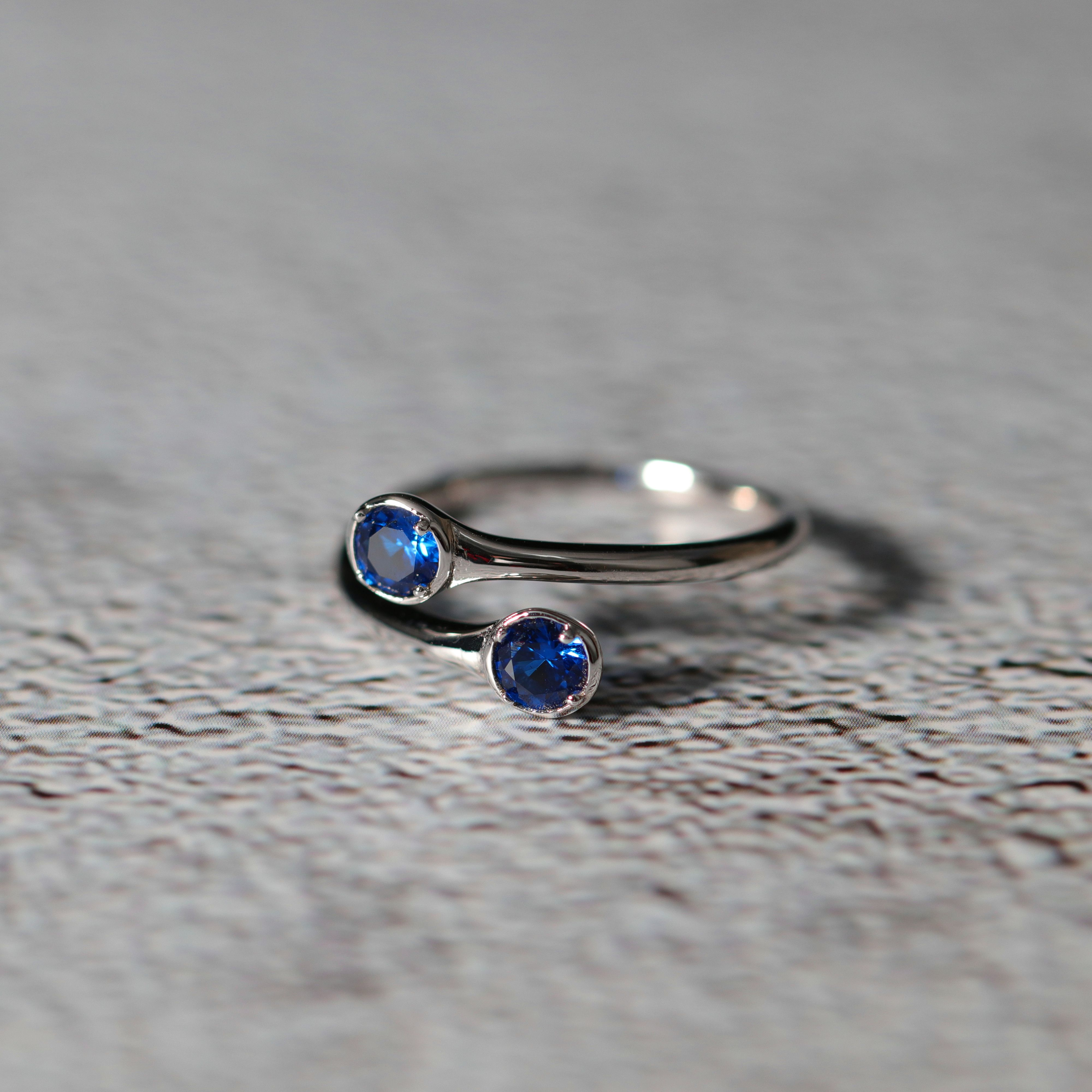 December Birthstone Rings 925 Sterling Silver Engagement