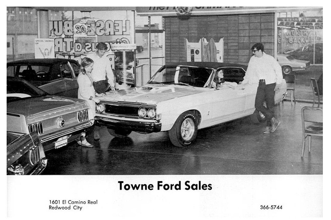 1960's Towne Ford Sales Dealership, Redwood City ...