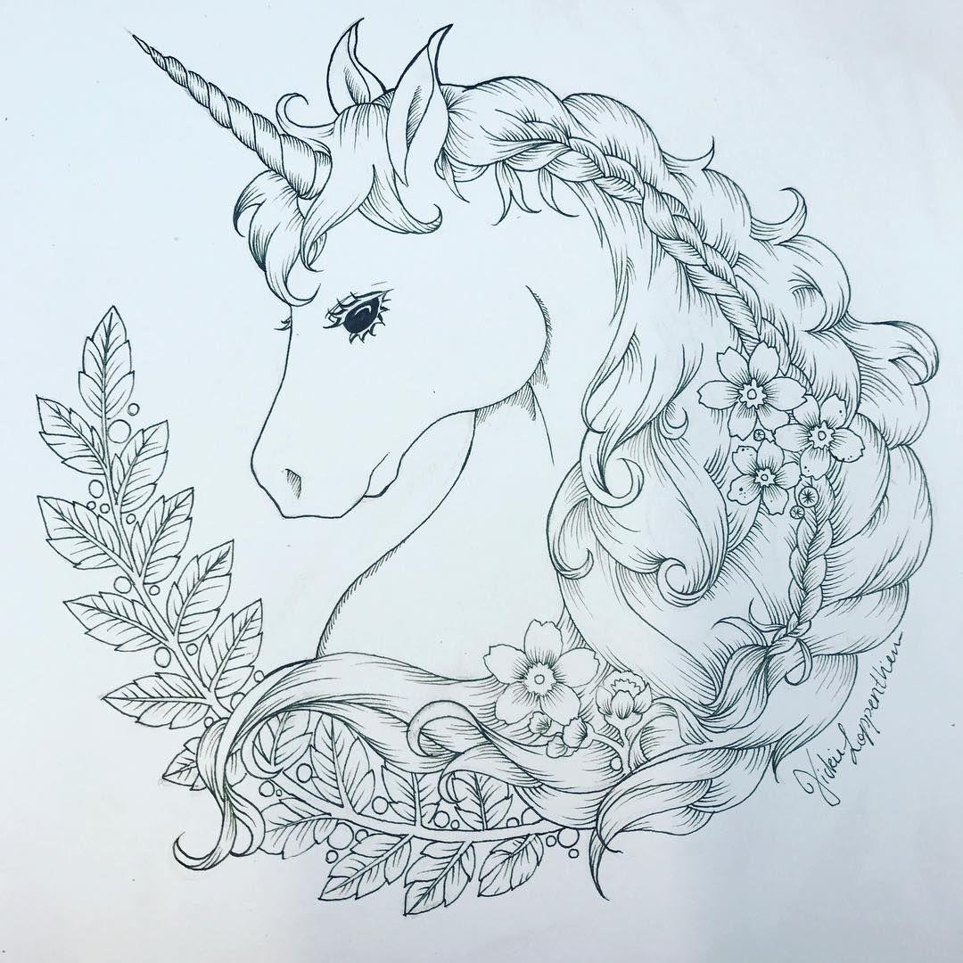 Unicorn Illustration Magical Unicorn Printable Unicorn Artwork