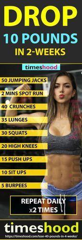 24-Stunden-Plan, um bis zu 40 Pfund in 4 Wochen zu verlieren - Fitness Tips - #24StundenPlan #bis #f...