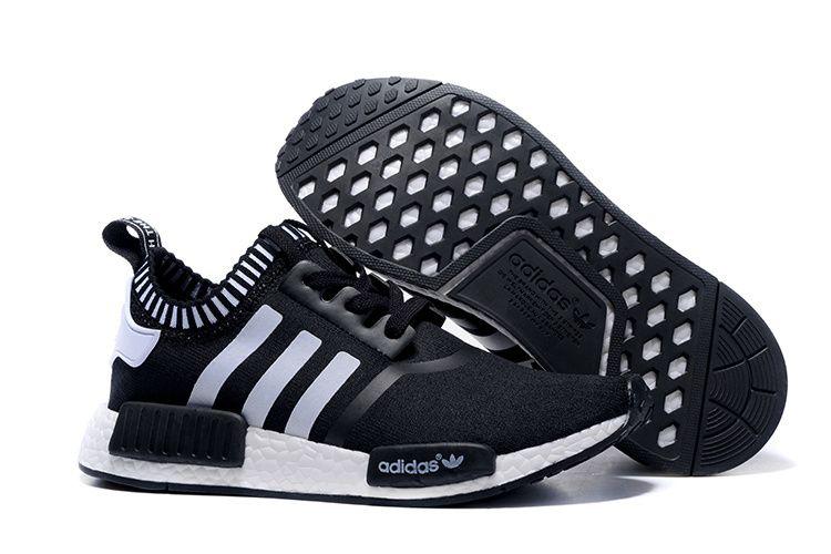 Adidas Originals NMD Runner Primeknit Women Running Shoes black white 54b0be67a2995