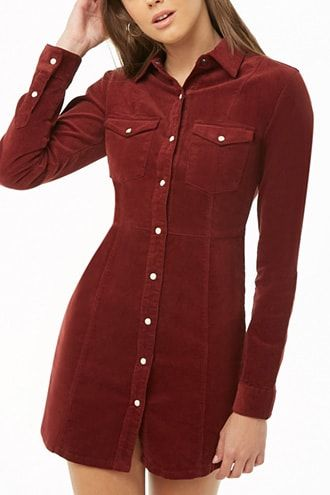 26af0d9a87d Corduroy Shirt Dress in 2019