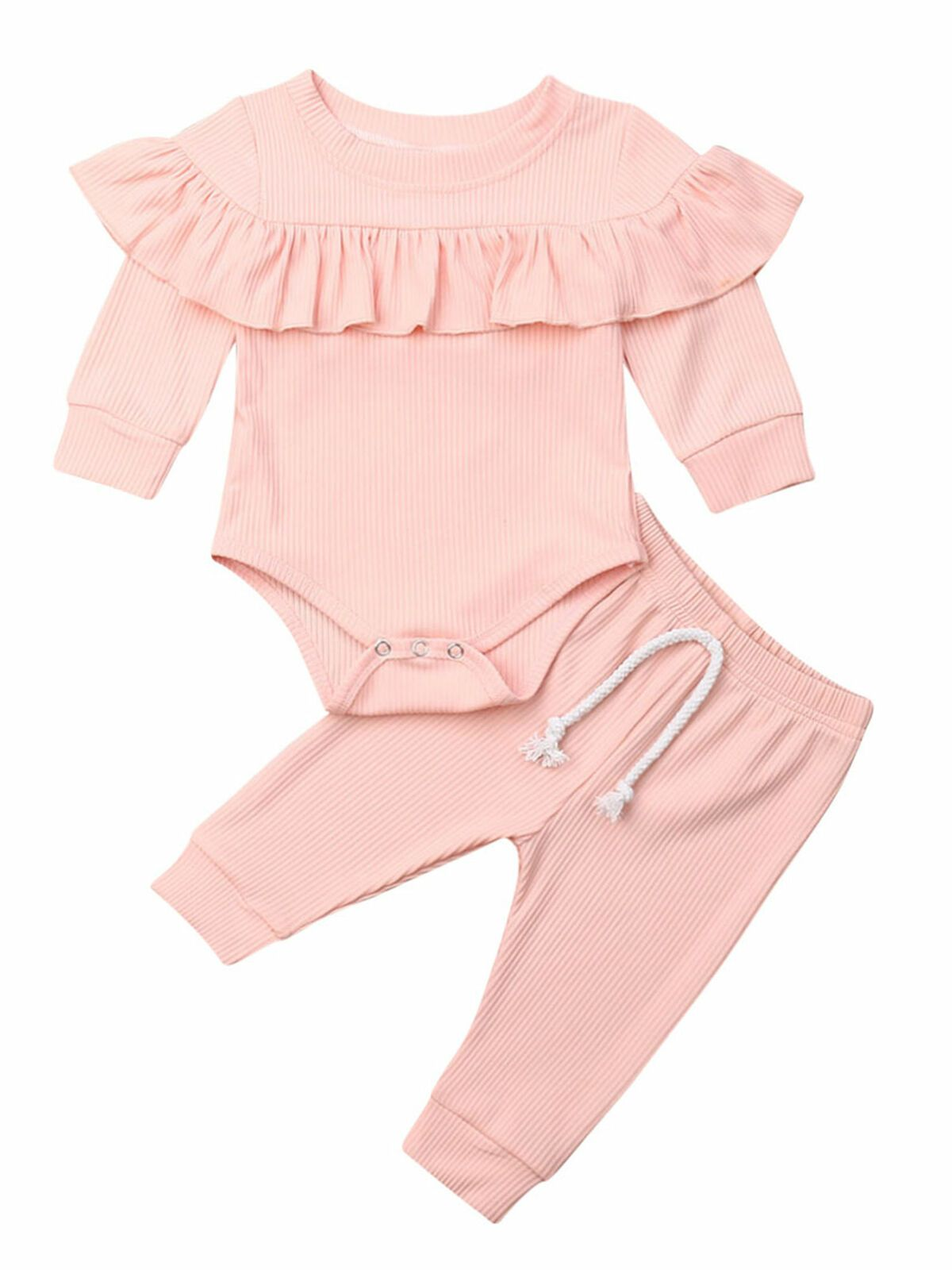Calsunbaby Infant Baby Girls Kid Ruffle Romper Tops Pant Autumn Winter Clothes Set 0 24m Walmart Com Baby Girl Clothes Winter Newborn Outfits Winter Baby Clothes
