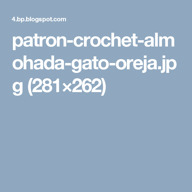 Perfecto Crochet Patrón De Almohada Gato Modelo - Ideas de Patrones ...