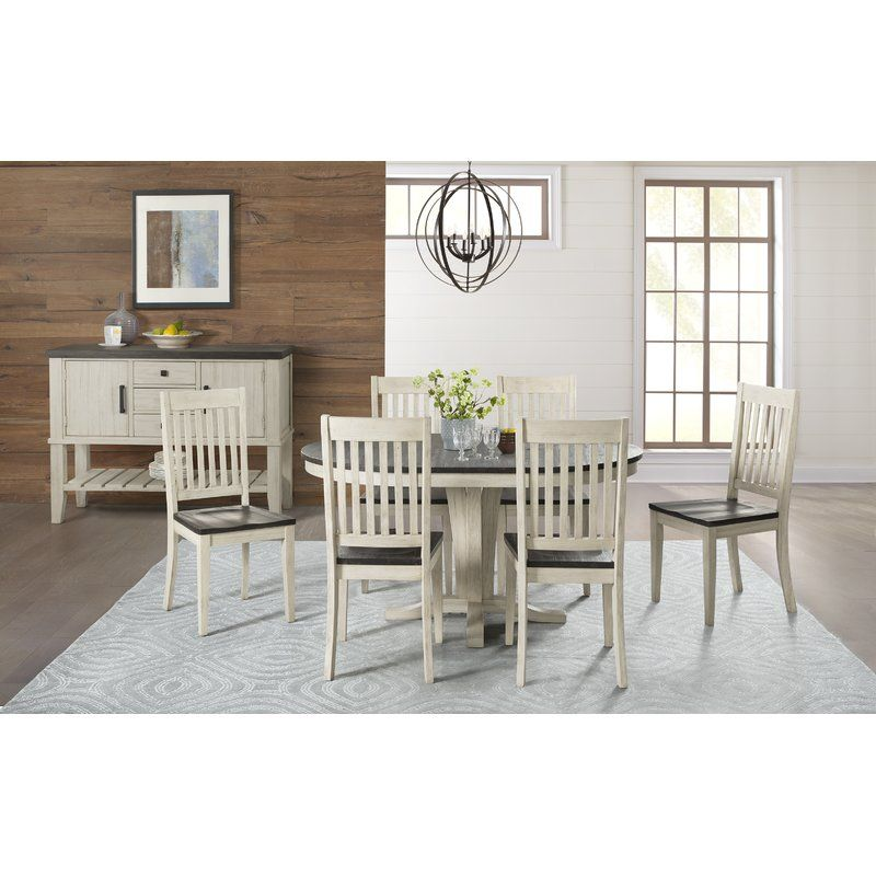 Ridgley 7 Piece Extendable Solid Wood Dining Set Solid Wood Dining Set Wood Dining Table Side Chairs