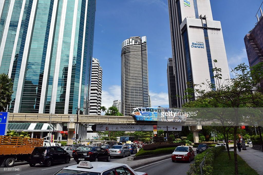 Kuala lumpur everyday life city center with street activity. Malaysia, Asia  #getty #photo #photographie #photographe #image #images #kuala #lumpur #urbain #travel #destination #architecture #moderne