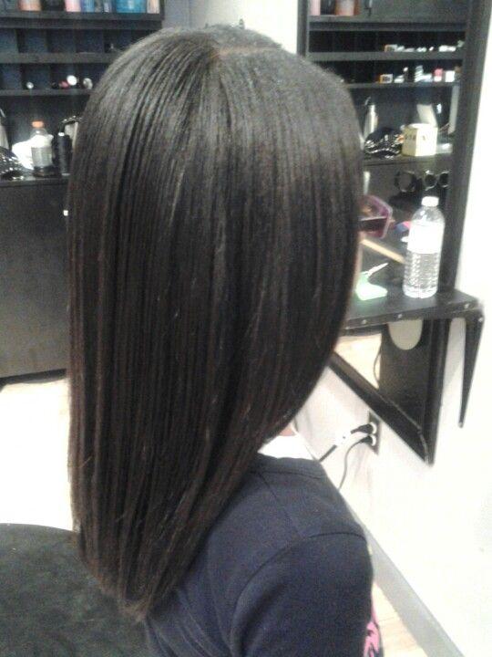 silk press natural hair  natural hair woman silk press