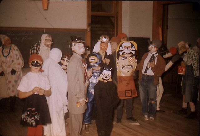 Image result for halloween preparation in the 60's