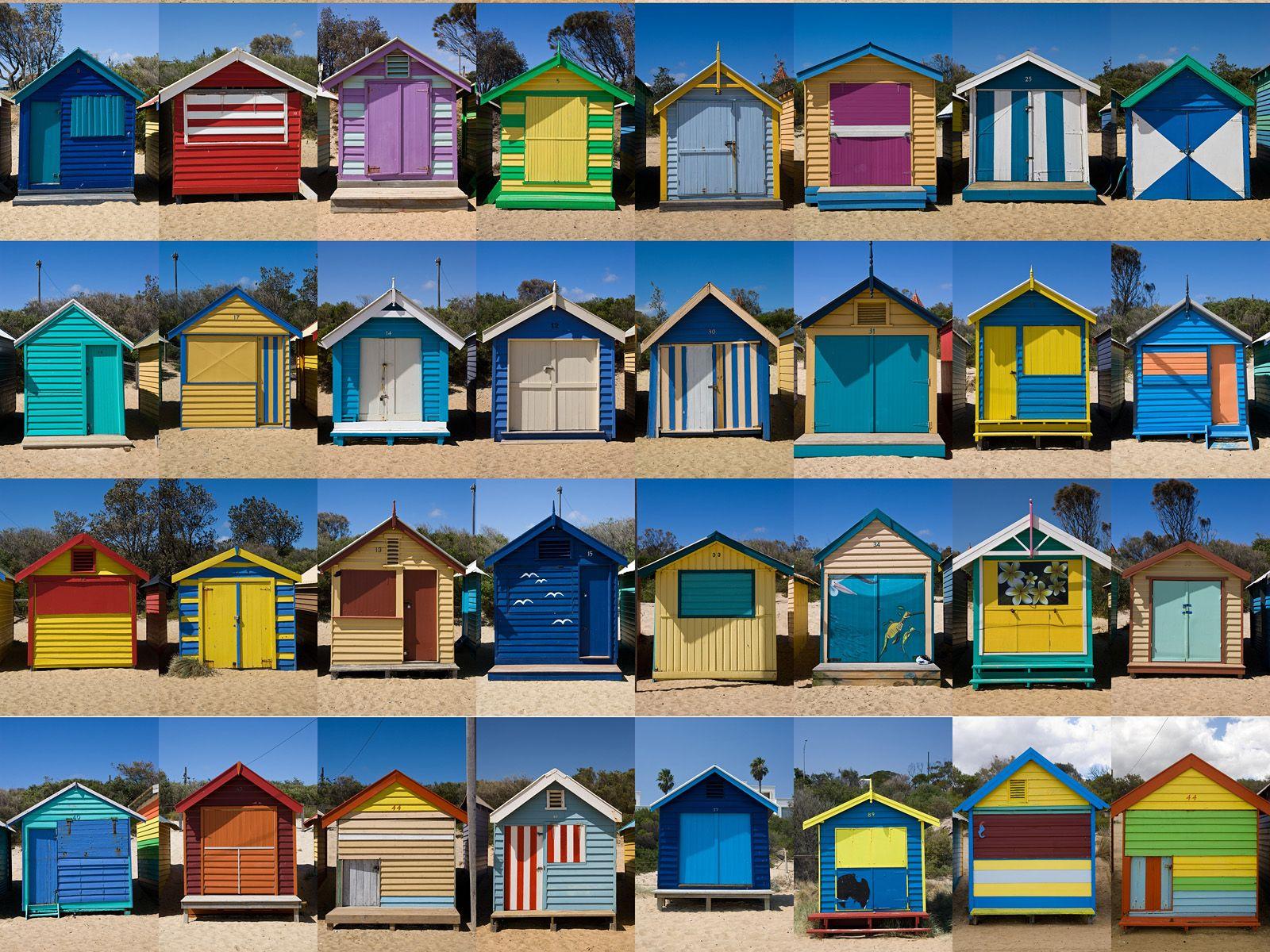 Cabanas on brighton beach melbourne australia travel for Beach house designs melbourne