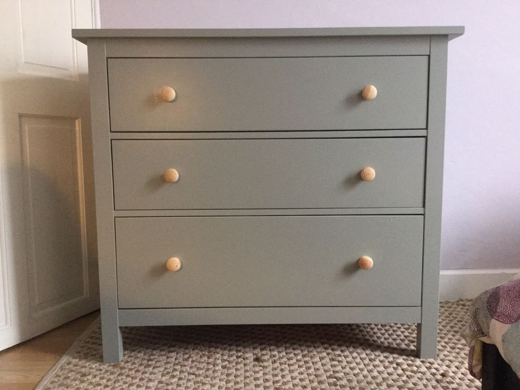 Ikea bedroom furniture chest of drawers - Upcycled Ikea Hemnes Chest Of 3 Drawers United Kingdom Gumtree Bedroom Furniturefurniture