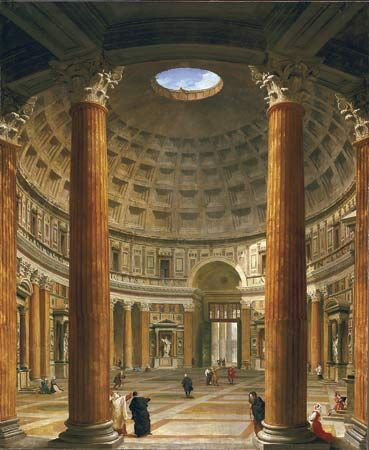 Pannini, Giovanni Paolo: painting of the interior of the Pantheon, Rome.  Probably
