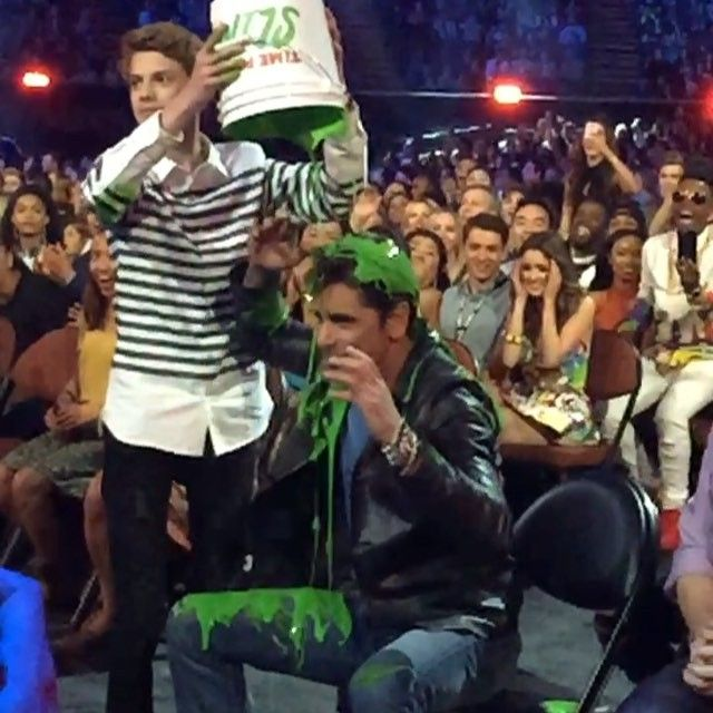 You never know who's going to get slimed at the #KCA or how it's going to happen!