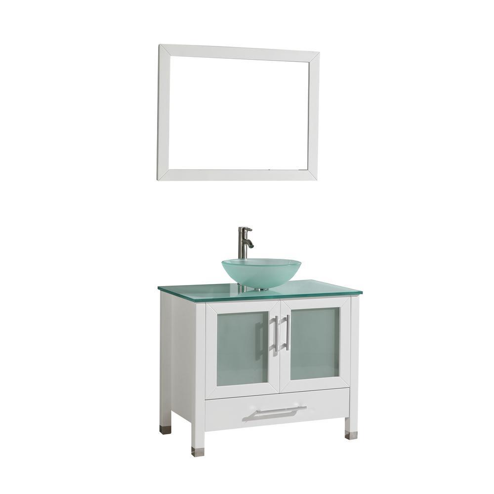 Mtd Vanities Cuba 36 In W X 20 5 In D X 36 In H Vanity In White