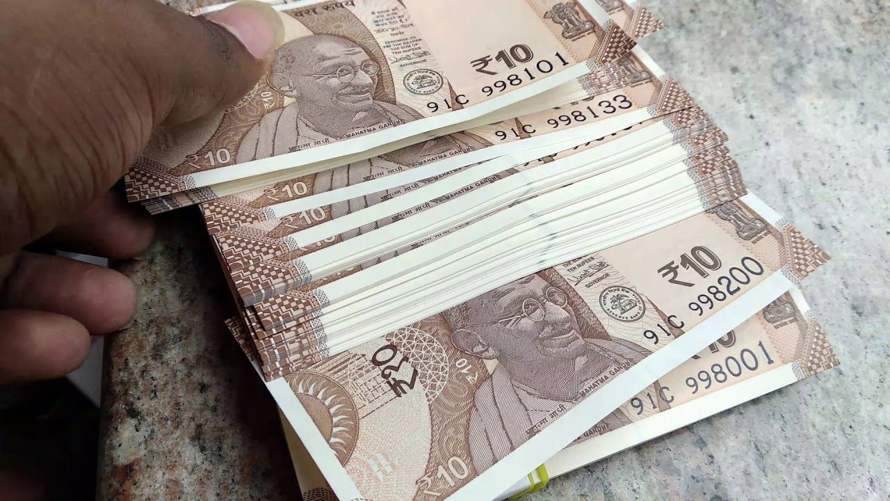 INDIAN NEW 10 RUPEES NOTES BUNDLE Beginner painting