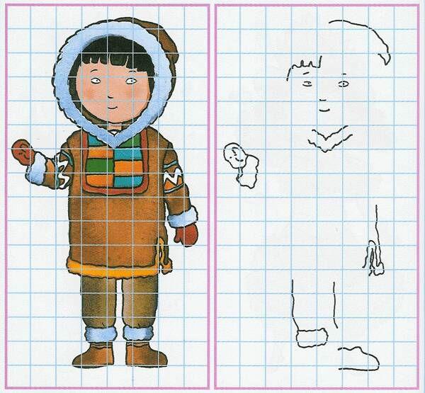 eskimo tekenen   Thema Noordpool Zuidpool, kleuters/ Theme Polar ...