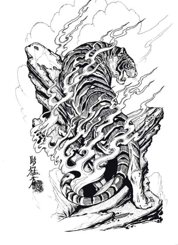 Free Download Tigers Hawks Snakes By Jack Mosher Aka Horimouja Design Tiger Tattoo Design Japanese Tiger Tattoo Japanese Tattoo Designs