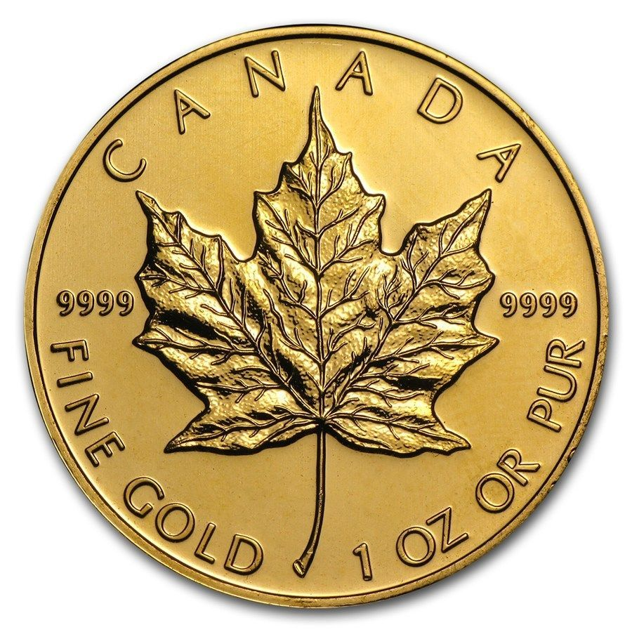 Details About Rcm 1 Oz Gold Canadian Maple Leaf Random Date 50 Gold Coin 999 Fine Bu Maple Leaf Gold Gold Bullion Coins Canadian Maple Leaf