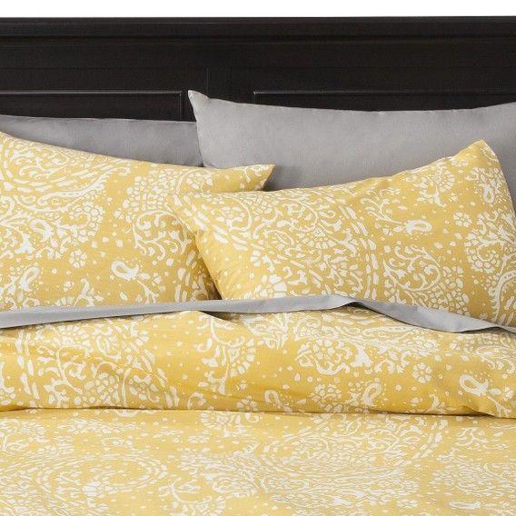 Target Threshold Gully Paisley Duvet Cover Set Yellow Image Zoom Duvet Covers Yellow Paisley Duvet Duvet Cover Sets