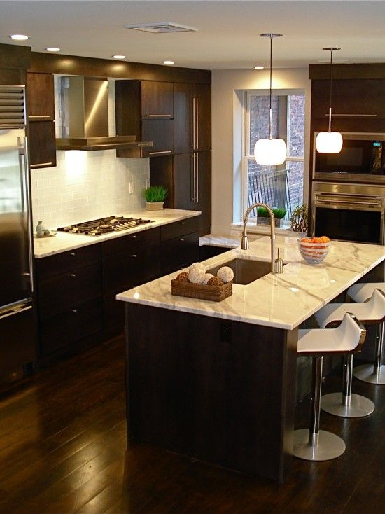 kitchens with dark hardwood floors design pictures remodel decor and ideas page