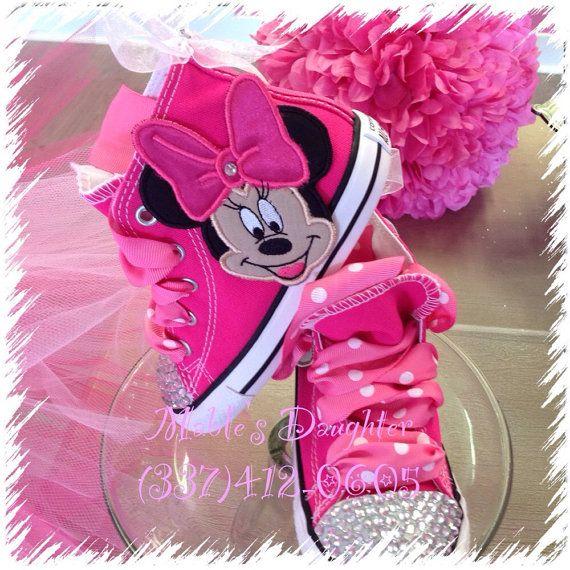 Minnie Mouse Bling Converse   Pinterest   Moda infantil y