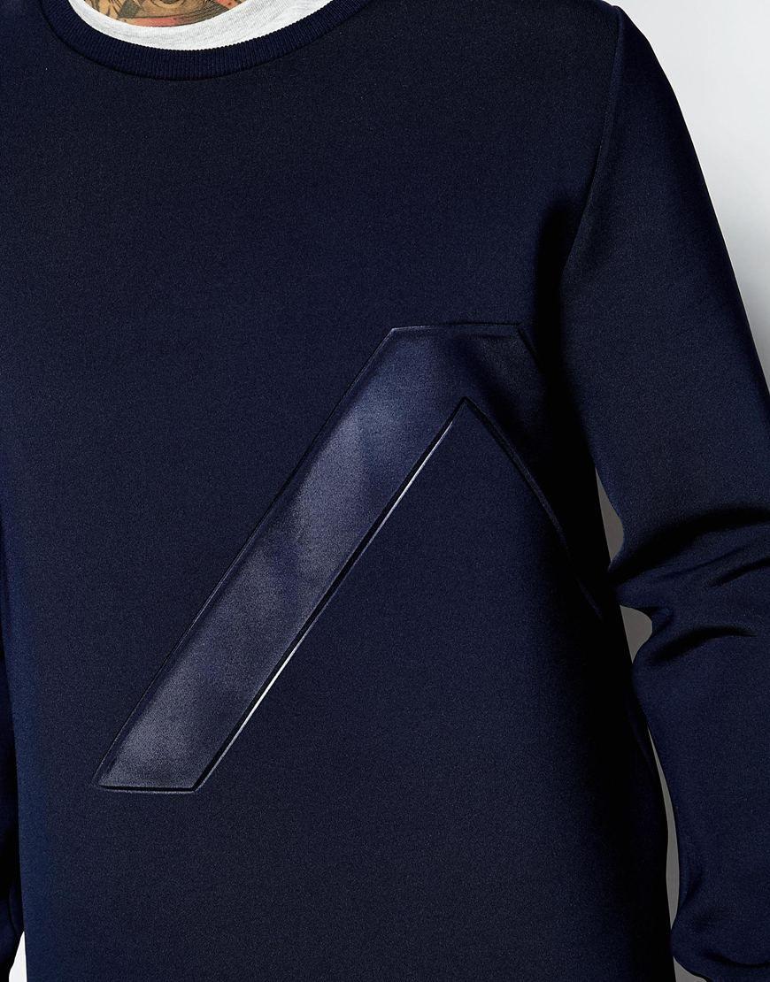 Image 3 ofASOS Oversized Scuba Sweatshirt With Embossed Panel