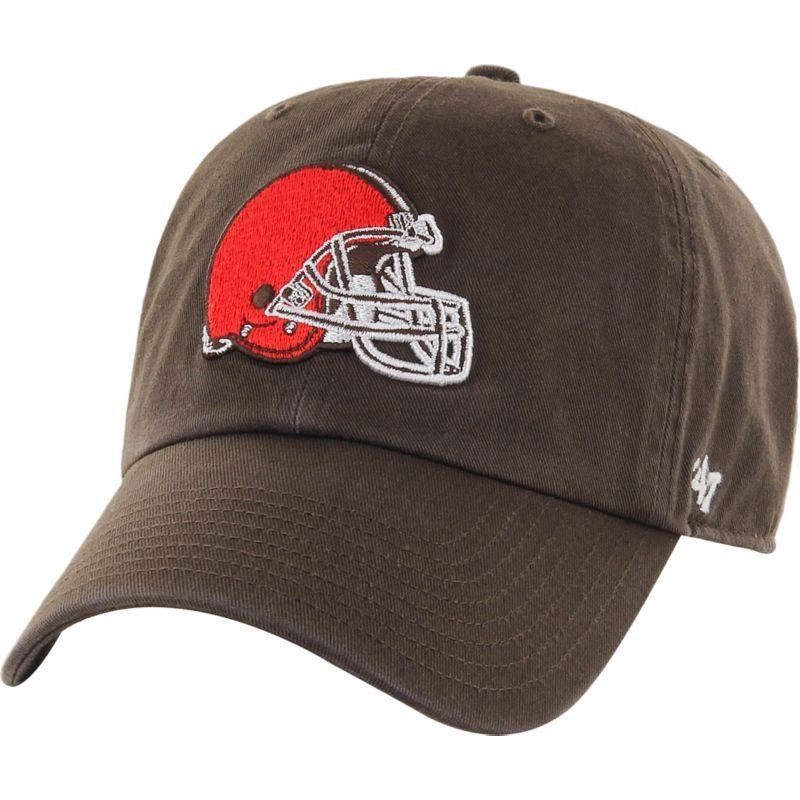 47  Men s Cleveland Browns Clean Up Brown Adjustable Hat 0c41ec2ce
