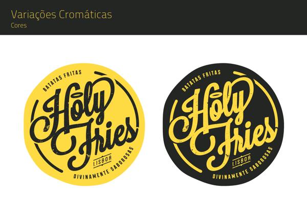 Holy Fries by YAGR DESIGN, via Behance