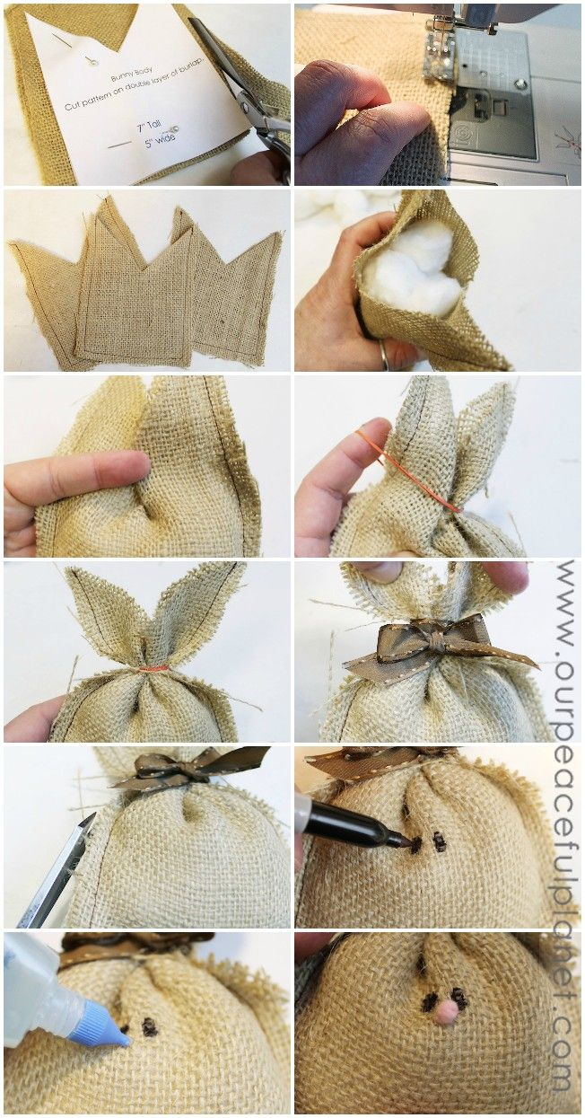 Burlap Bunnies Diy Crafts Pinterest Easter Easter Crafts