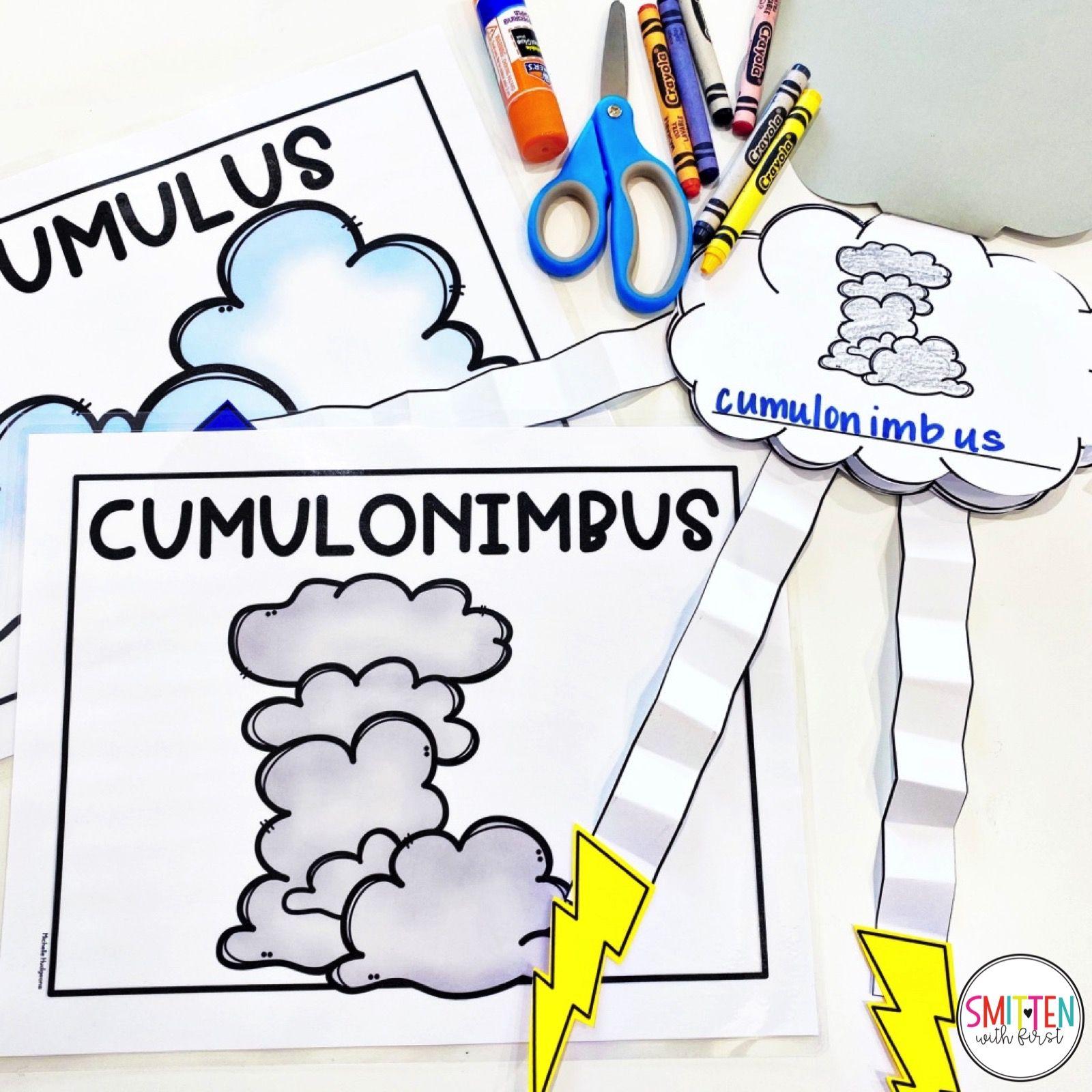 Cloud And Weather Activities For Kindergarten First Grade