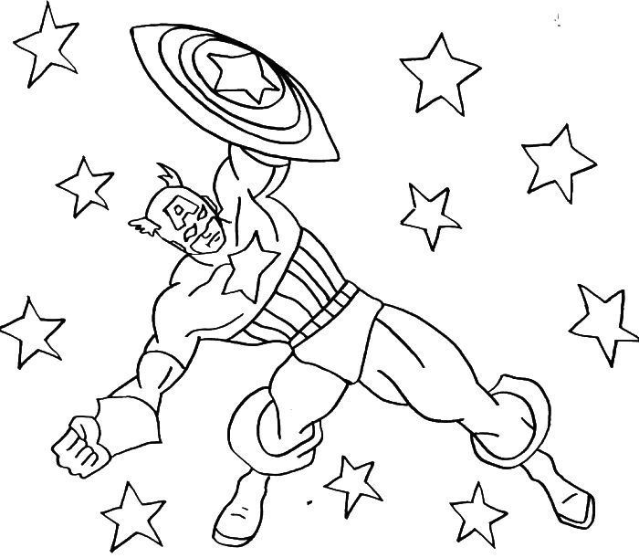 Captain America Coloring Pages For Kids - http://fullcoloring.com ...