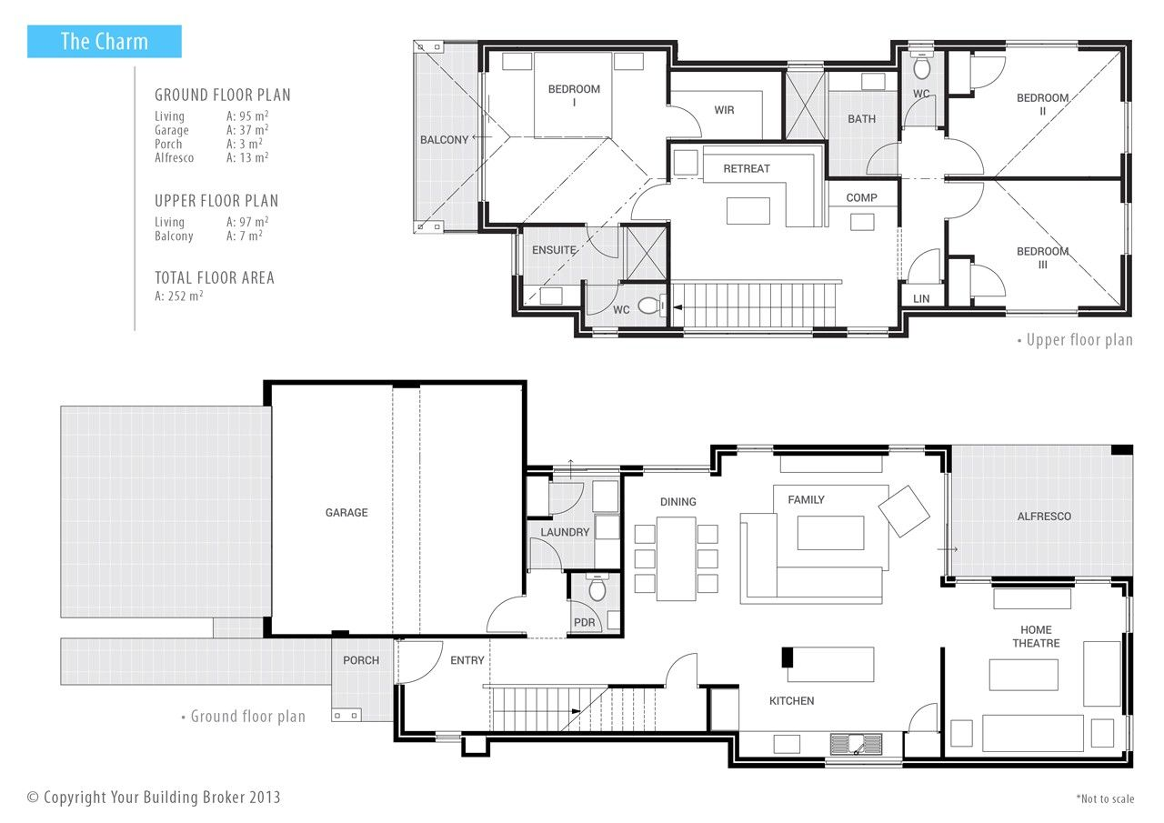 Your Building Broker The Charm 2 Storey Narrow Block Home Floor Plans House Plans Storey Homes