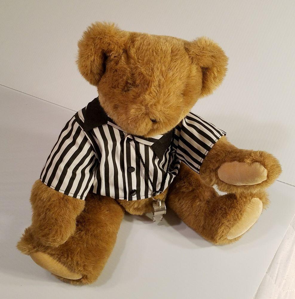 Vermont Teddy Bear Company Plush Stuffed Bear Referee Coach