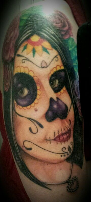 Tattoos day of dead girl so realistic