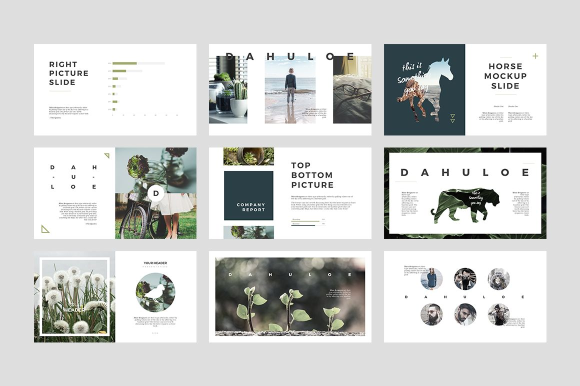 Dahuloe PowerPoint Template by Angkalimabelas on @creativemarket