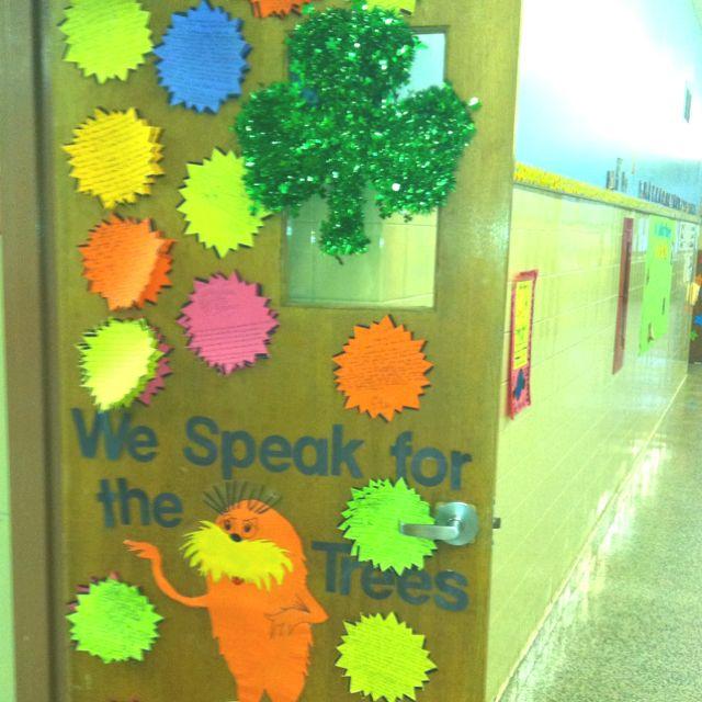 Lorax theme door | Classroom Door | Pinterest | Lorax ...
