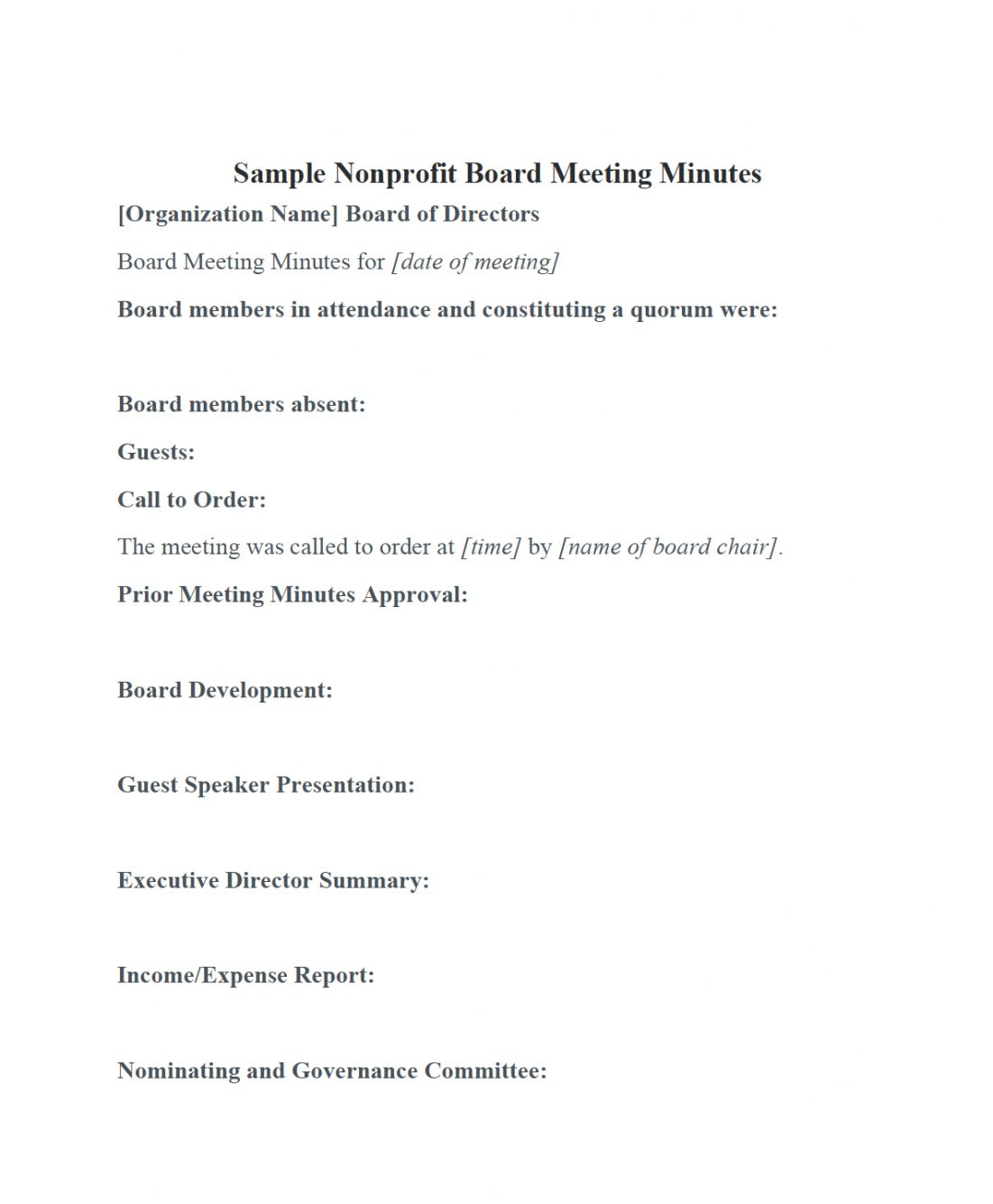 Free Nonprofit Board Meeting Minutes Template Diligent Insights Board Meeting Agenda Templat Meeting Agenda Agenda Template Meeting Agenda Template