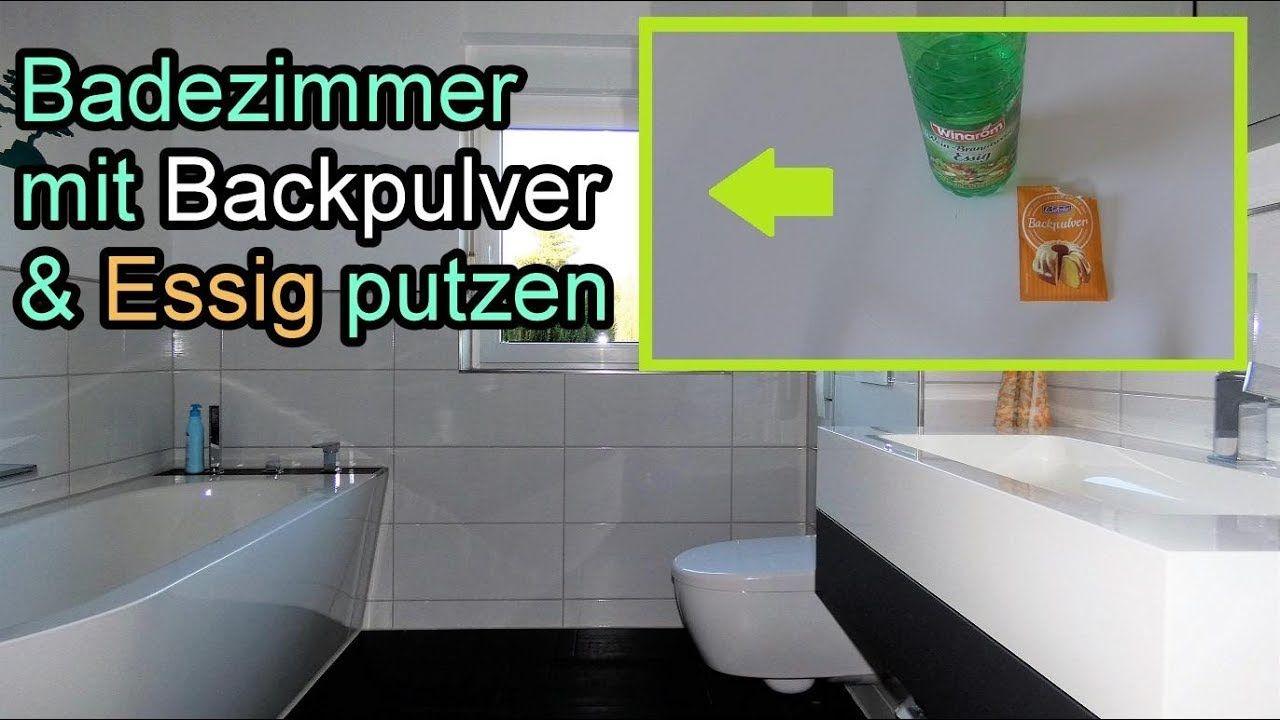 Badezimmer Mit Backpulver Essig Muhelos Reinigen Bad Putzen Mit Hausmittel Haushaltstipps Backpulver Und Essig Essig Putzen Haushalt