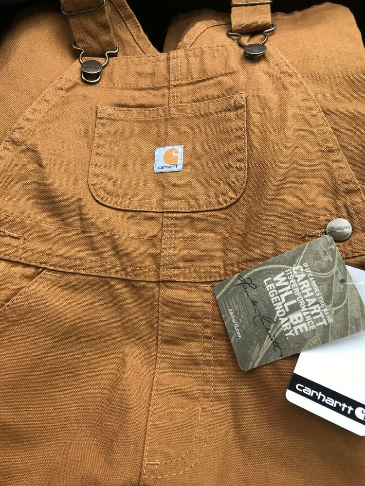 27350416 NEW CARHARTT USA Made VTG Dk Brown Duck Canvas Unlined Dbl Knee Bib Overalls  3T #fashion #clothing #shoes #accessories #babytoddlerclothing ...