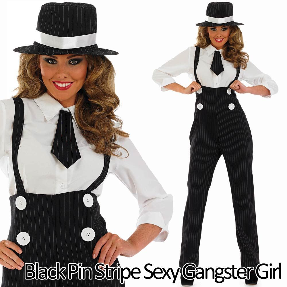 Adults Gangster Accessories Mens Ladies 1920s Mafia Mobster Fancy Dress Outfit