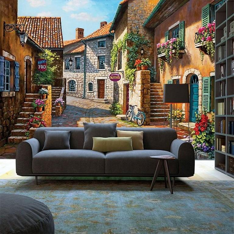 40+ Interesting 3D Wallpapaer Design Ideas For Living Room ...